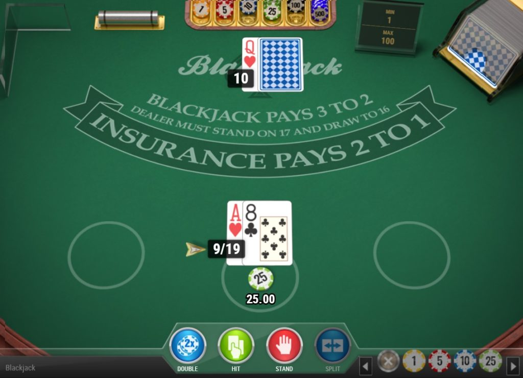 Blackjack soft